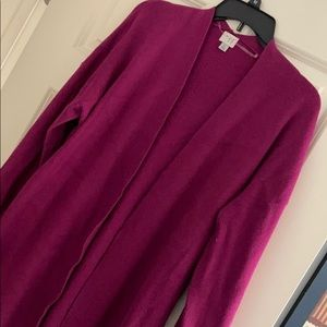 Pretty cranberry pink cardigan with belt